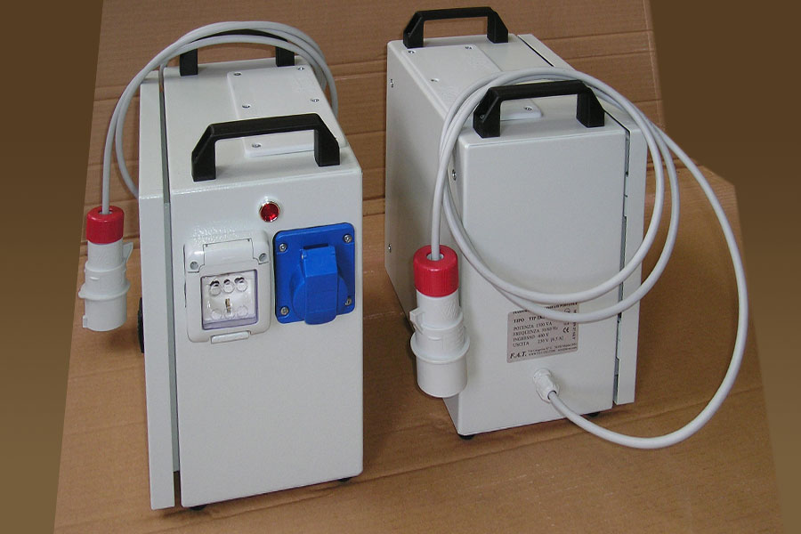 Boxed and portable transformer